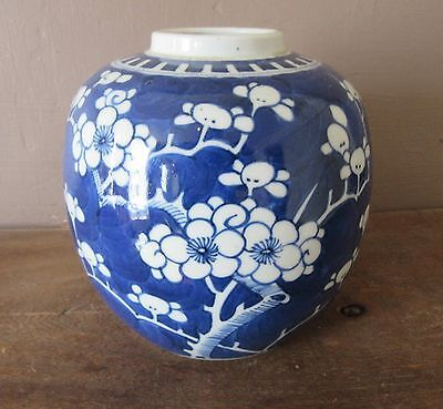Kangxi Porcelain Antique Chinese Prunus Pattern Ginger Porcelain Jar