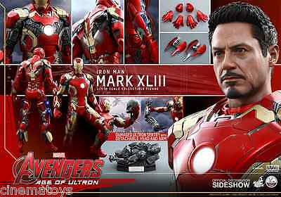 Iron Man Mark XLIII 43 Quarter Scale Figure Hot Toys Avengers Age of Ultron 1/4