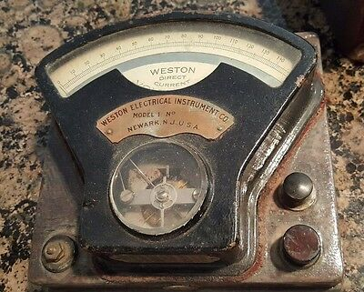Antique VOLTMETER - WESTON ELECTRIC INSTRUMENT CO.  All Original
