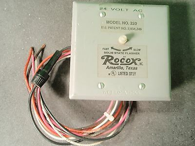 Rocox 320 Fast & Slow Solid State Flasher 24 Volt AC Load 20 AMPS per Circuit