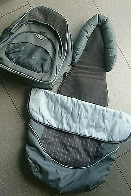 silvercross front apron cosytoes footmuff headhugger & rucksack grey universal