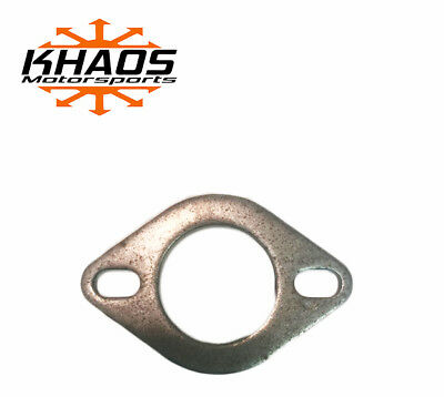 """2 1/4"""" Universal Mild Steel Flange Exhaust Pipe 2 Slotted Bolt Hole OVAL"""