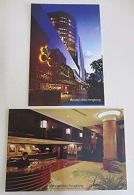 Two Postcards of the Hotel Nikko in Hong Kong