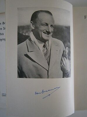 Don Bradman Signed Farewell To Cricket Book First Edition 1950 {Rare}
