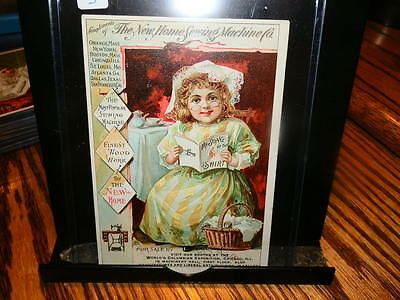 #4478,New Home Sewing Machine Little Girl w Song Bk Victorian TC