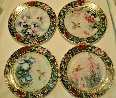 Lena Liu Hummingbird Treasury Collector Plates Porcelain Complete Set Lot of 8