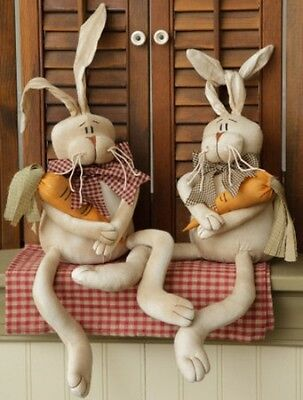 Karrot Kids Bunny Couple Poseable Ears Primitive Country Spring Easter Decor