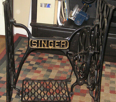Singer Sewing Machine Cast Iron Base ~ Great for Table Legs