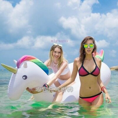 Large Size Unicorn Inflatable Pool Float Raft Swimming Floating Sofa Chair 275CM