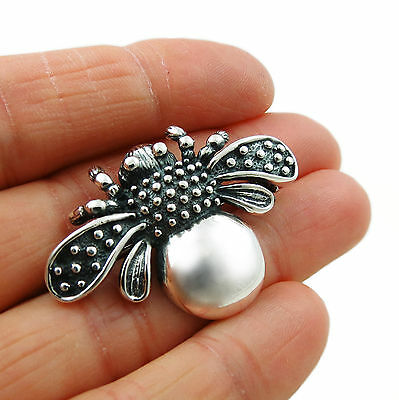 Bee Brooch 925 Sterling Silver Bumblebee Design