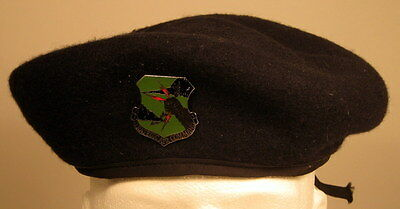 USAF US Air Force Security Police Subdued Strategic Air Command SAC Badge Beret