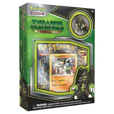 NEW! Pokemon TCG. Sun and Moon. Zygarde Complete Collection Pin Box. Cards.