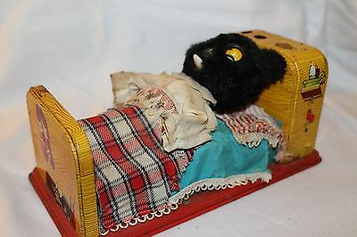 Vintage 1950s Linemar Sleeping Baby Bear Tin Litho Toy Battery Operated NW RARE