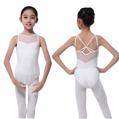 Kids Girls Dance Leotard Stretch Bodysuit Ballet Training Tops Costume Clothes
