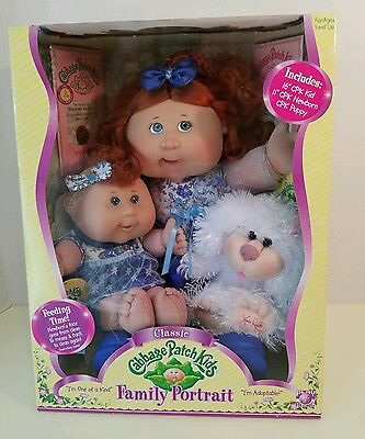 2007 Cabbage Patch Kids Family Portrait Kid Newborn Puppy PROTOTYPE 0 of 15.5k!