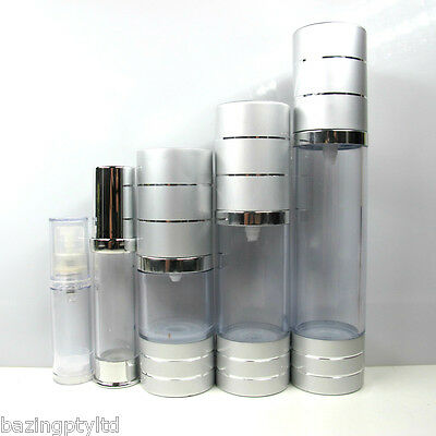 5ml 10ml 15ml 30ml Airless Pump Plastic Bottle Lotion Serum Empty Container