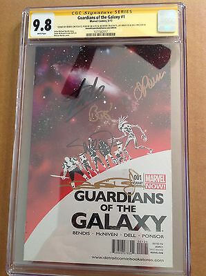 CGC SS 9.8 Guardians of the Galaxy #1 Variant Lee Bendis McNiven Ponsor & Dell