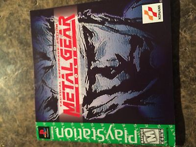 Metal Gear Sold - Playstation 1 - Instruction Manual Only