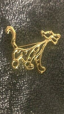 """euc"" Disney Tigger The Tiger Gold Tone Brooch Pin Free Shipping!"
