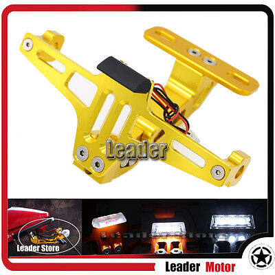 For Honda CBR650F CB650F CBR 650F License Number Plate Frame Holder Bracket Gold