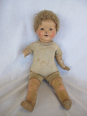 American Character Baby Composition Doll Glued Wig Sleepy Eyes AM CHAR DOLL