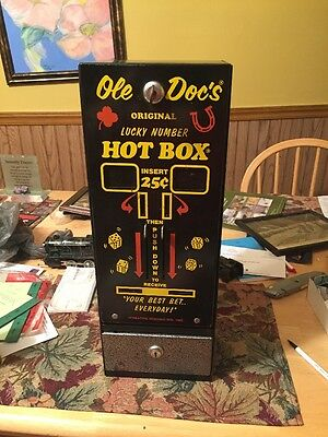 Old Docs Original Lucky Number Hotbox 1985 In Good Condition Coin Operated Mach