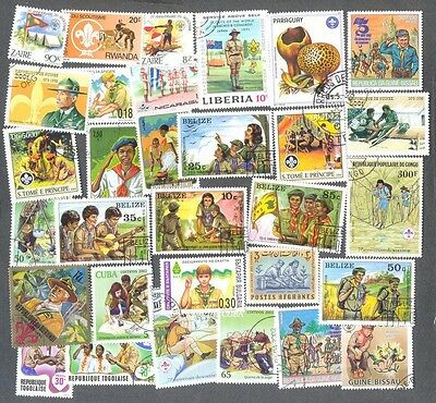 Scouts 300 all different stamps collection(a few guides)