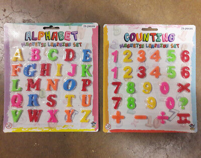 Kids Toy Magnetic Teaching Learning Alphabet - LETTERS & NUMBERS Fridge Magnets