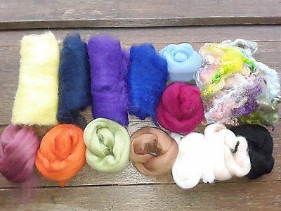 74g Mixed Wool Pack, Merino Wool and Sheep Wool, Needle Felting, Spinning, NFP 1