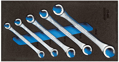 Gedore 2309068 Set of open flare nut spanners in 1/3 CT module