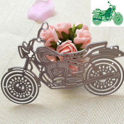 Motorcycle Cutter Cutting Dies Stencil Scrapbooking Cards Paper Embossing Craft