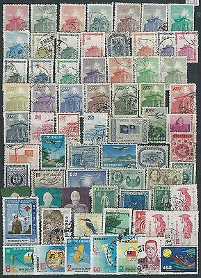 China/taiwan Collection 4 Pages Used Stamps