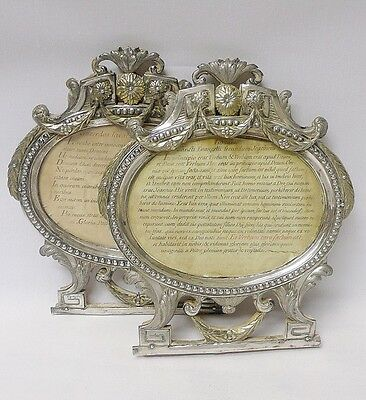 Pair of Antique Italian Silver Frames 1790 stock id 8191