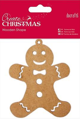 Docrafts CREATE CHRISTMAS Wooden Shape ~ GINGERBREAD MAN