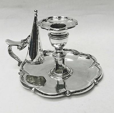 Georgian Silver Chamberstick by Henry Crowder 1830. Stock ID 8749