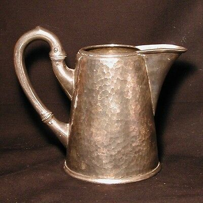 Vintage Hand Hammered Silver Pitcher Grand Hotel des Palmers Nice Italy