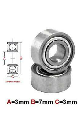 AT Bearing 3x7x3mm MS chrome steel metal shielded (683zz)