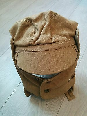 Soviet USSR Russian Army Soldier Cap Afghanistan Hat Desert Dust Mask Military