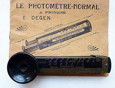 "Photographie ancienne- ANCIEN PHOTOMETRE-NORMAL à prismes ""E.Degen"" vers 1897"