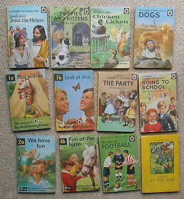 12 Ladybird Books, 1960's and 1970's