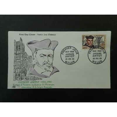 FDC - Jacques Amyot - 23/2/1963 Melun