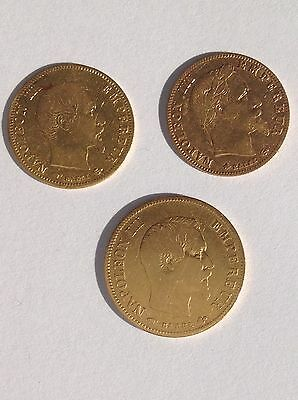 2 X 5 + 10 Francs Paris A Napoleon III  Frankreich France Gold Münze Or Oro