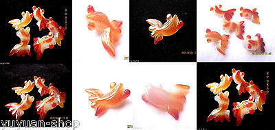 Wholesale Mixed Lots Chinese Chalcedony / Jade Carved Pendants - Fish