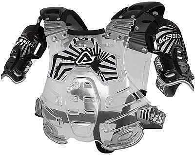 Acerbis mx bomber roost chest protector body armour black clear one size