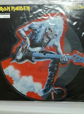 """Iron maiden Fear of the dark 12"""" vinyl picture disc numbered"""