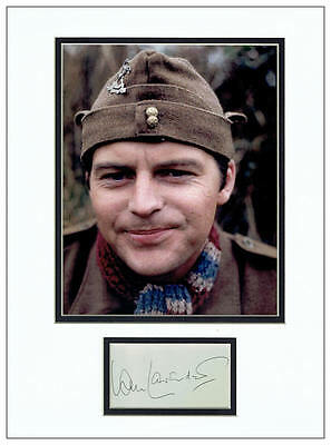 Ian Lavender Autograph Signed Display - Dad's Army  AFTAL  UACC RD