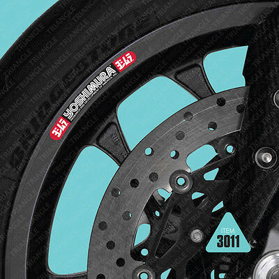 SKU3011 - 10 X Yoshimura Motorcycle Wheel Rim Stickers Decals Transfers