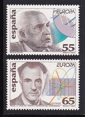 Spain #2778-2779 Mnh Europa Cept 1994 (Physicist)