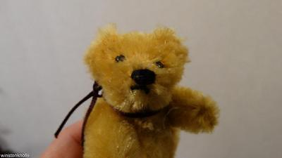 "1950's SCHUCO 8CM 3"" GOLD YELLOW 5 WAY ARMATURE BEAR"
