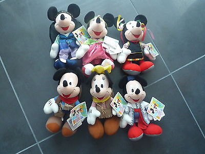 Lot de 6 peluche Mickey